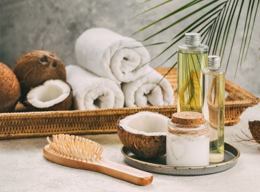 Natural coconut oil for body and hair care